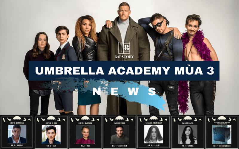 Thông tin về Umbrella Academy mùa 3: lịch chiếu, diễn viên và những thứ 'linh tinh' khác